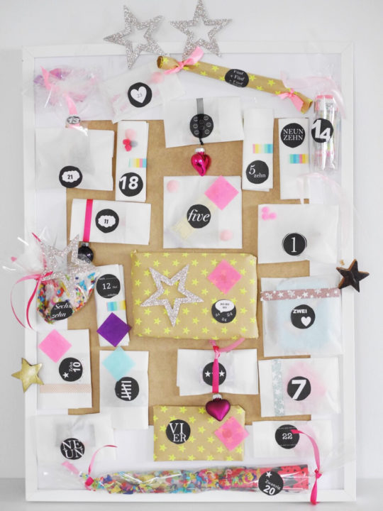 adventskalender basteln diy mit bilderrahmen. Black Bedroom Furniture Sets. Home Design Ideas