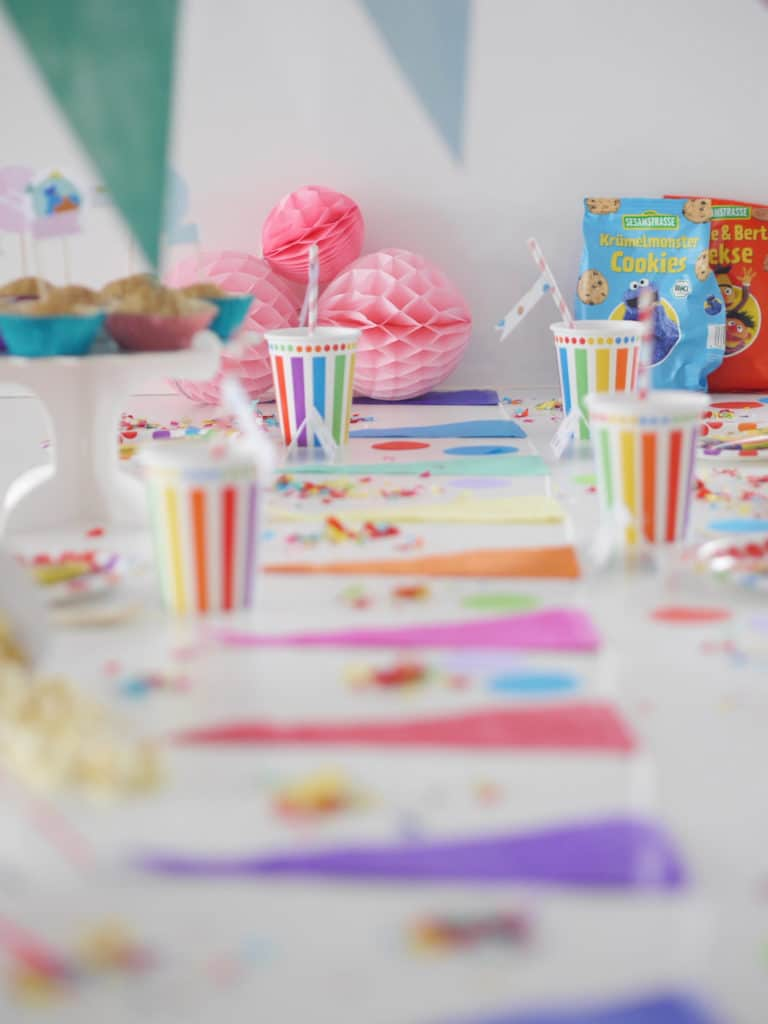 Kunterbunter Kindergeburtstag: Konfetti Party mit Sesamstrasse Bio