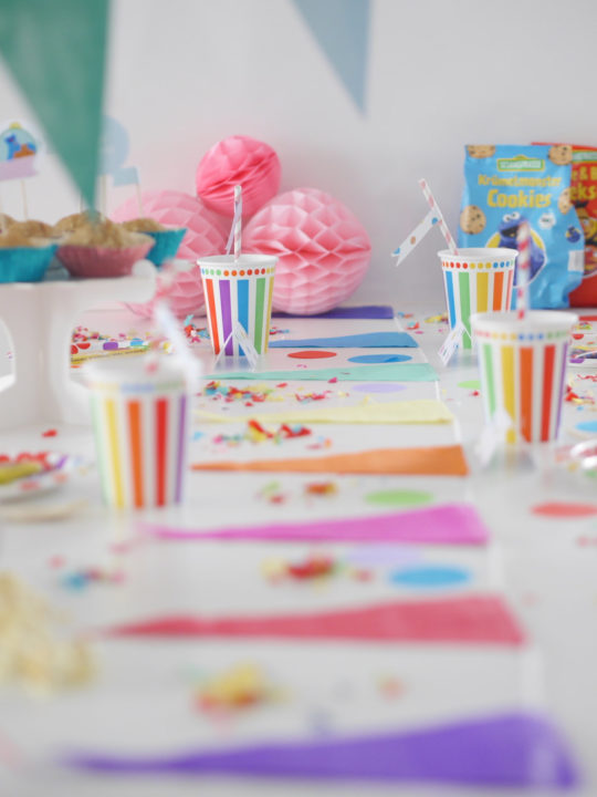Kunterbunter Kindergeburtstag Konfetti Party Mit Sesamstrasse Bio