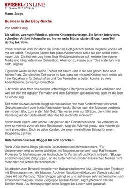 Druckversion mama blogs business in der baby Nische Spiegel online Karrierespiegel page 001