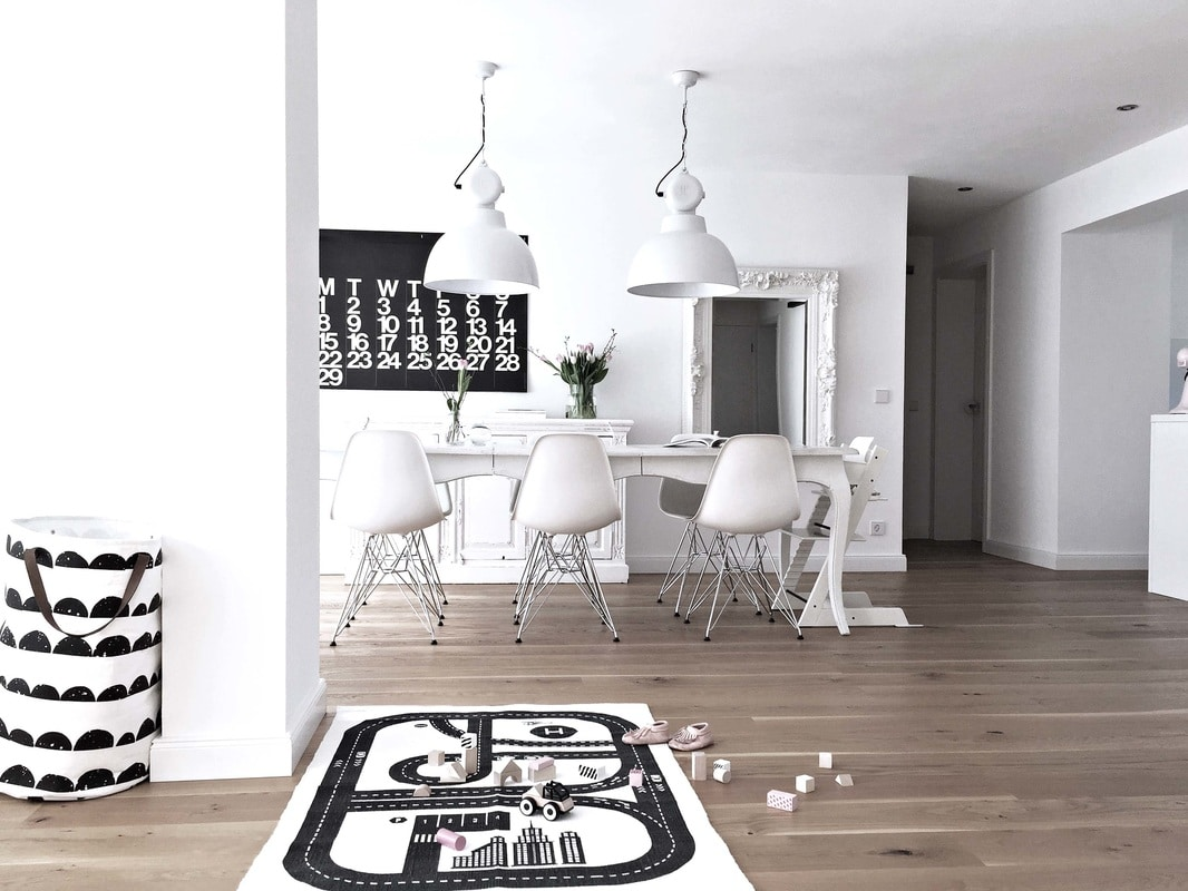 black & white wohnen