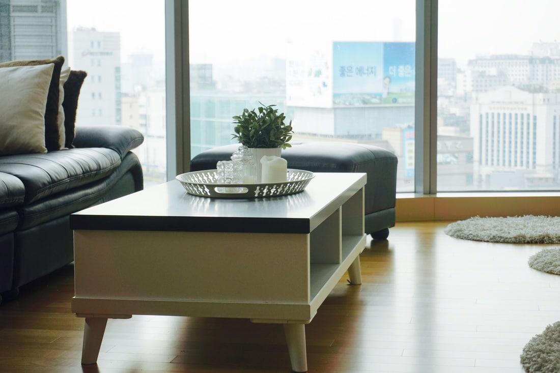 Zuhause über den Dächern von Seoul