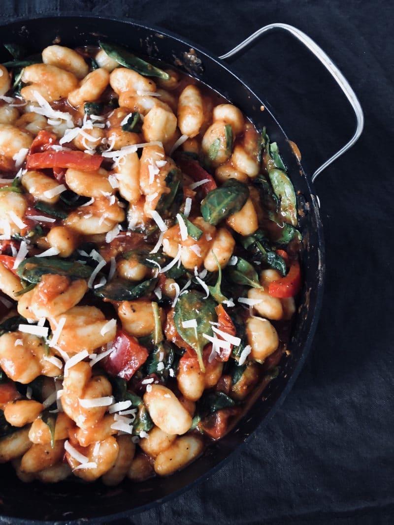 gnocchi rezept tomaten spinat