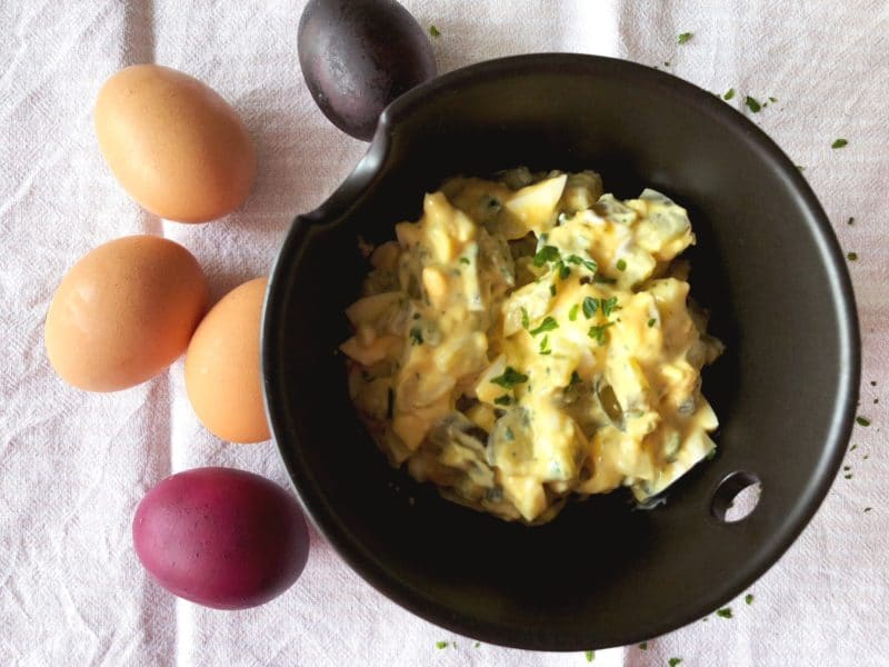 Eiersalat ohne Mayonnaise