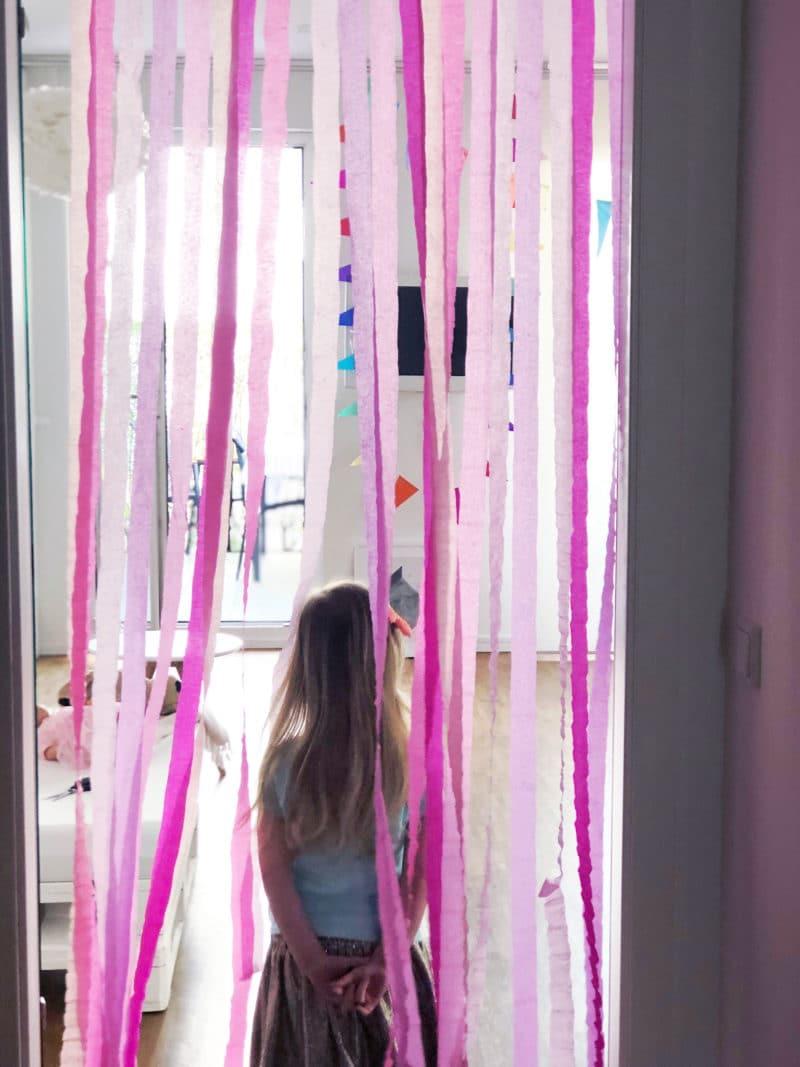 kindergeburtstag deko türrahmen