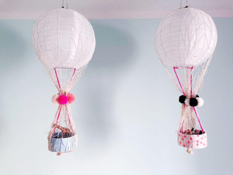 DIY Heißluftballon basteln fürs Kinderzimmer ...