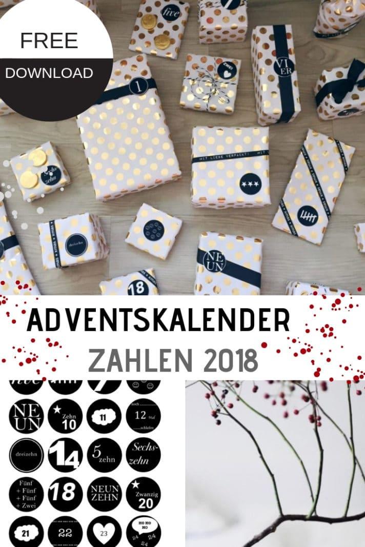 adventskalender zahlen 2018