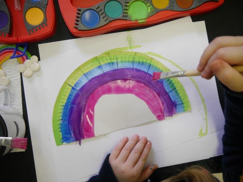 regenbogen bilder deko diy