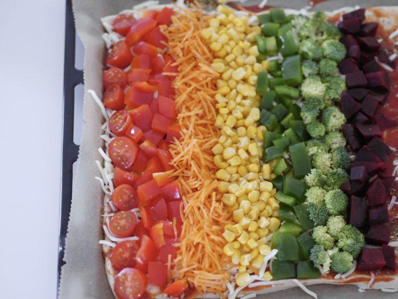 regenbogen pizza