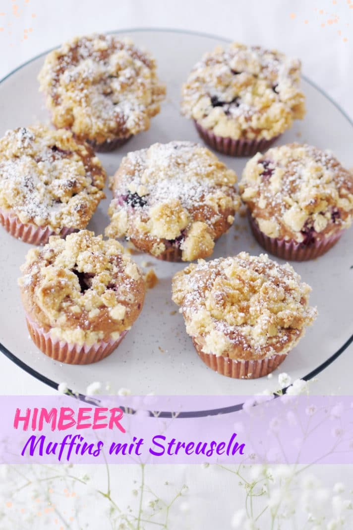 himbeer muffins mit streusel