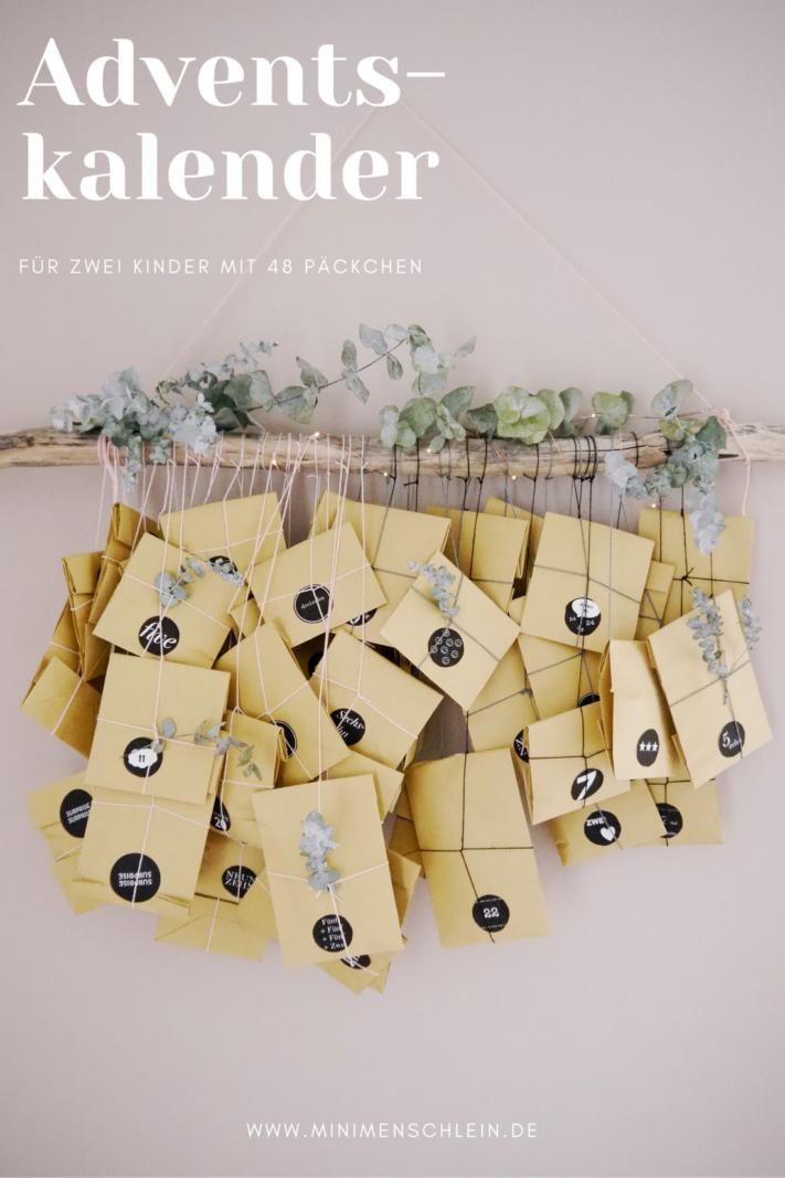Ein Adventskalender für zwei Kinder mit 48 Päckchen