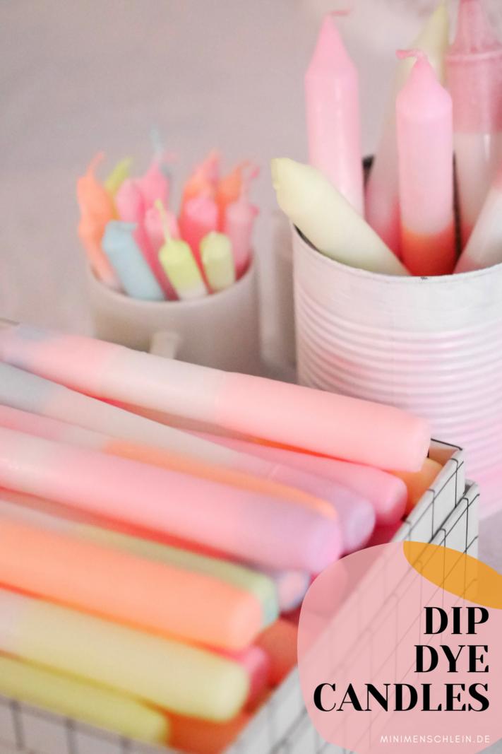 DIY Dip Dye Candles