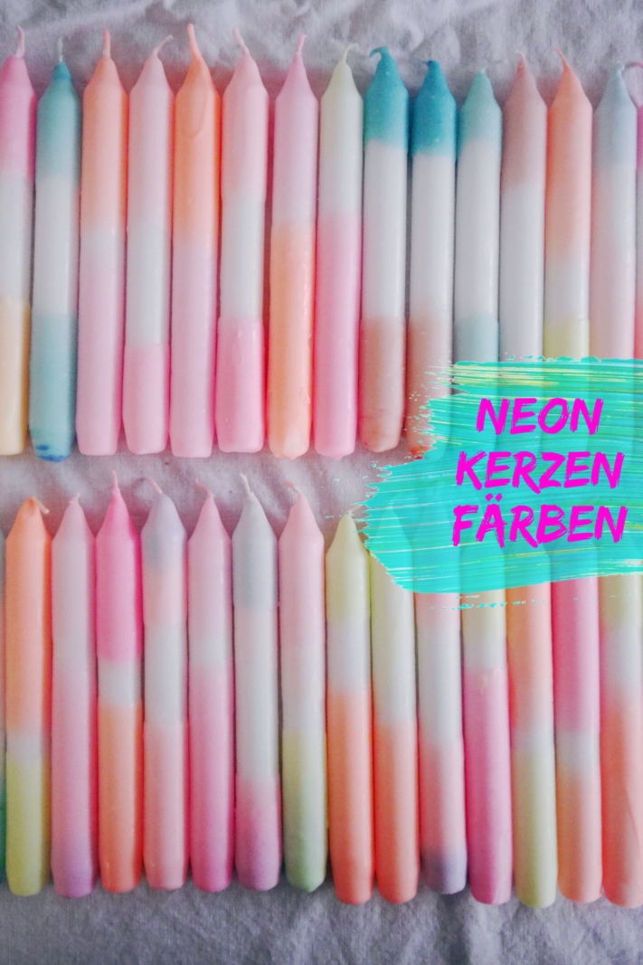 Kerzen Färben Neonfarben eine einfache Anleitung
